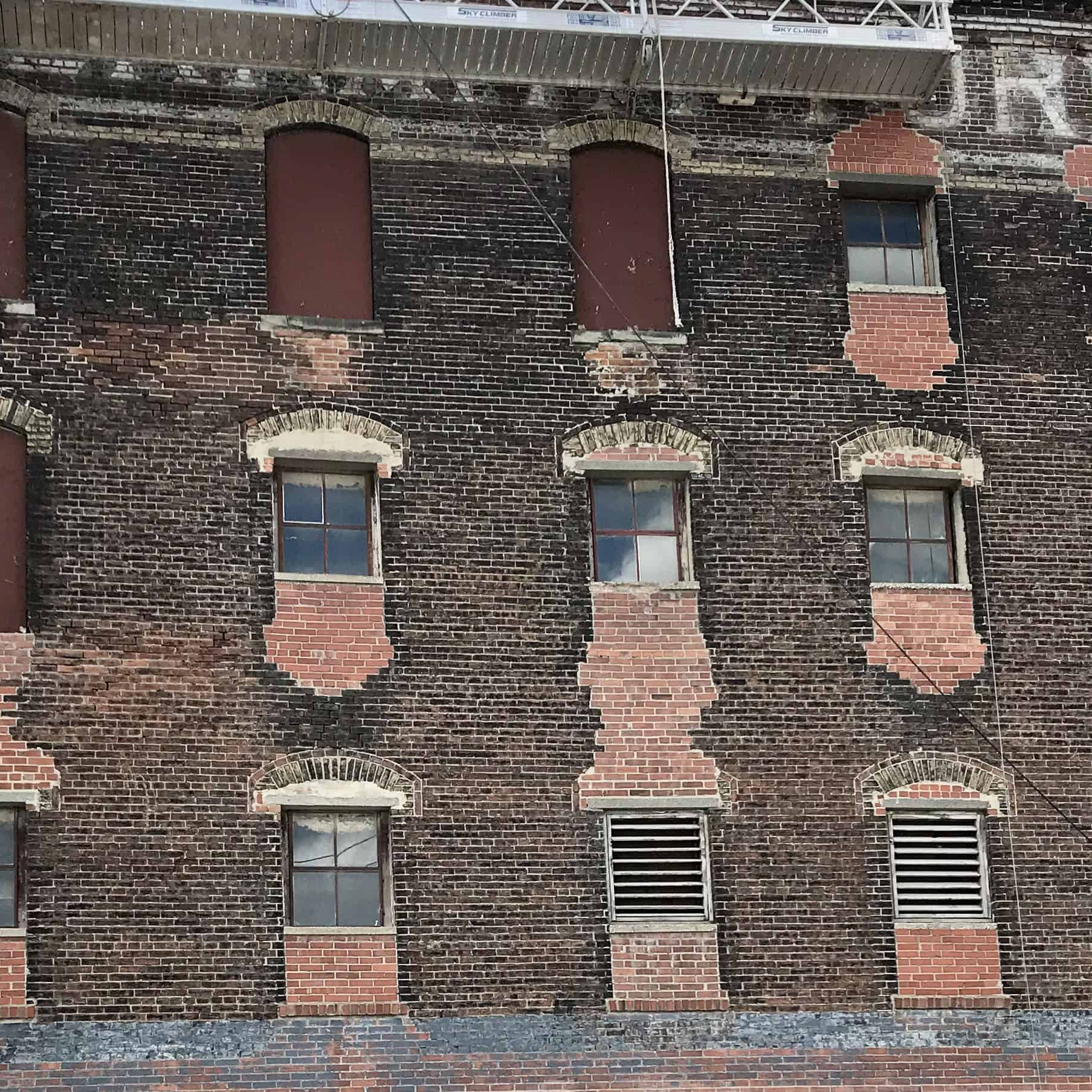 Abernathy Building restoration in Kansas City's West Bottoms.