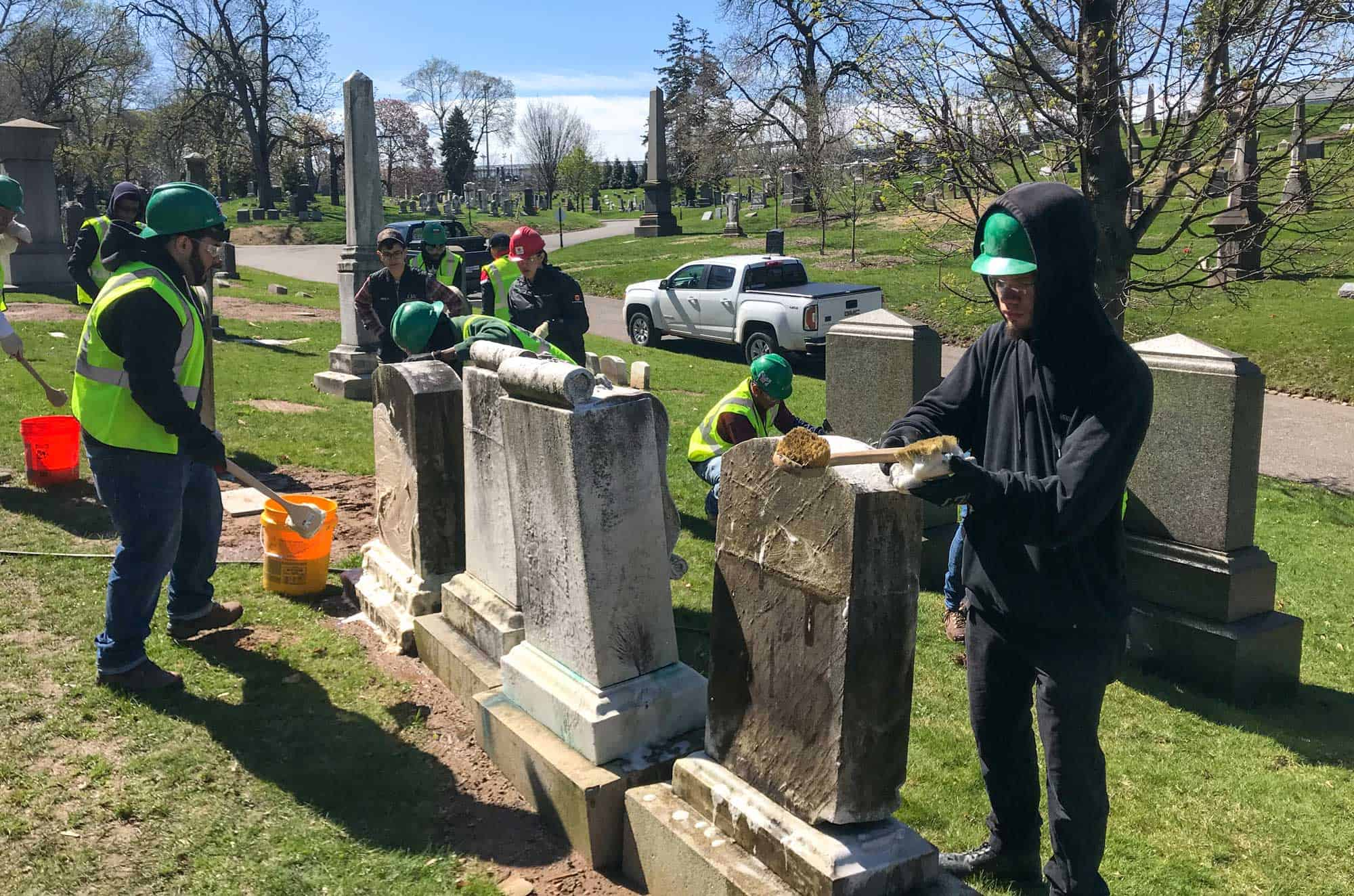 Green-Wood-Cemetery-cleaning-work