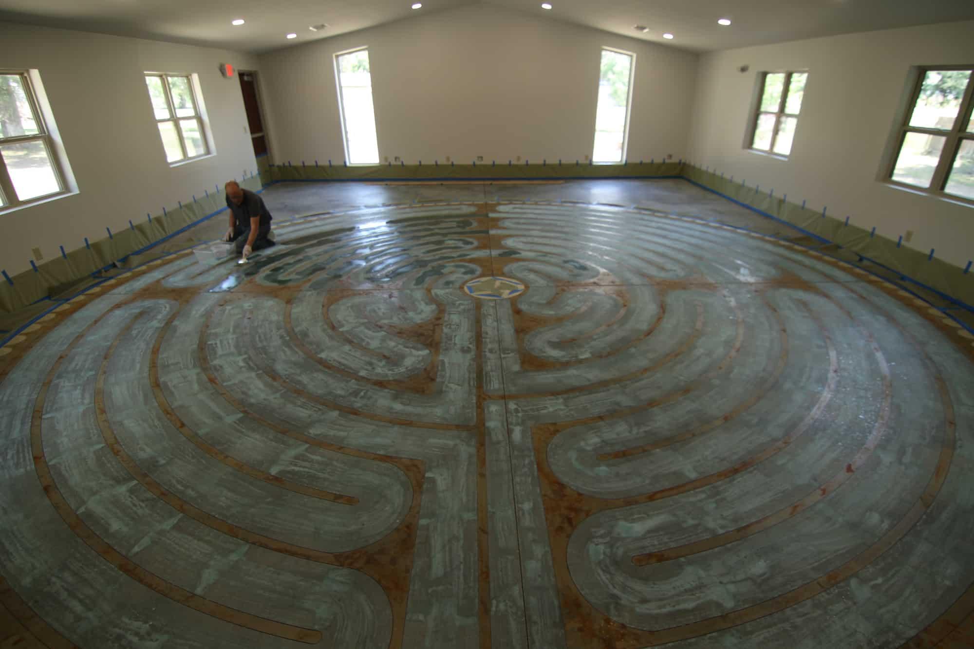 labyrinth at Peace Mennonite Church