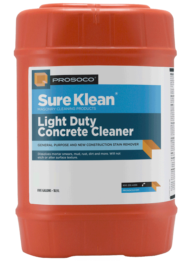 light duty concrete cleaner