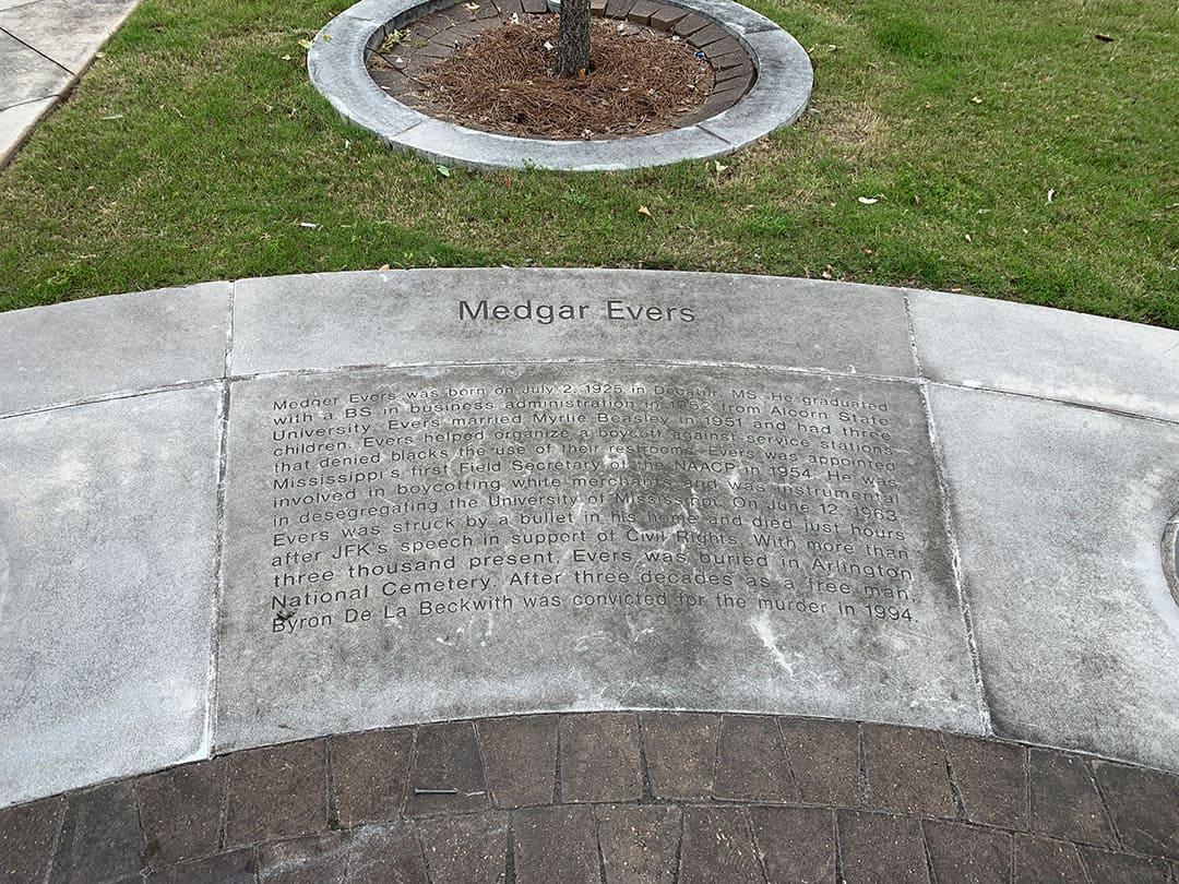 Evers memorial - before