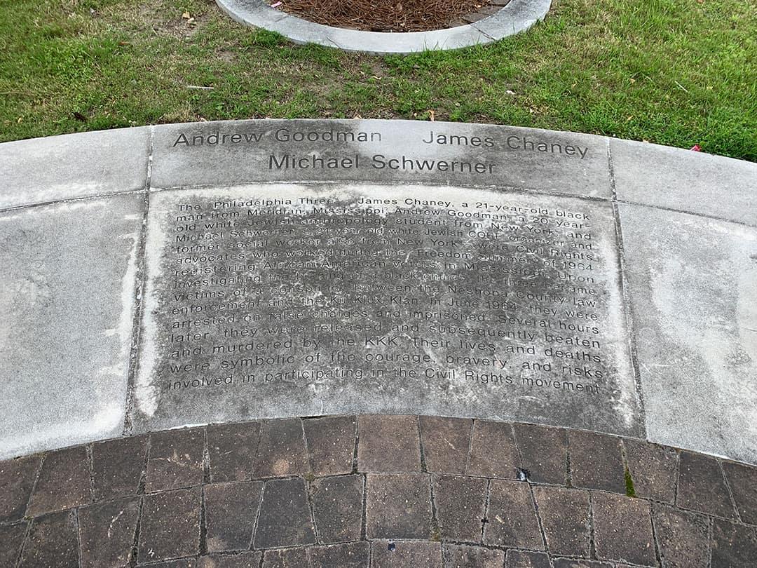 Goodman memorial - before