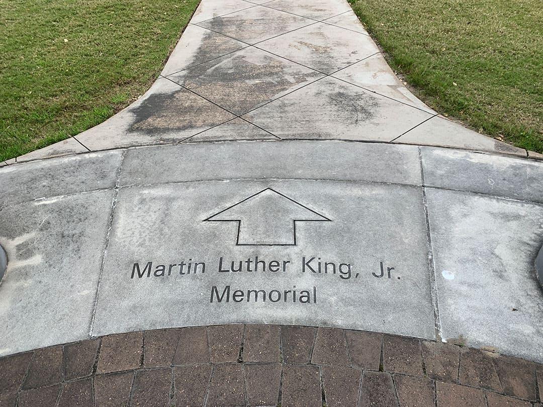 MLK memorial - before