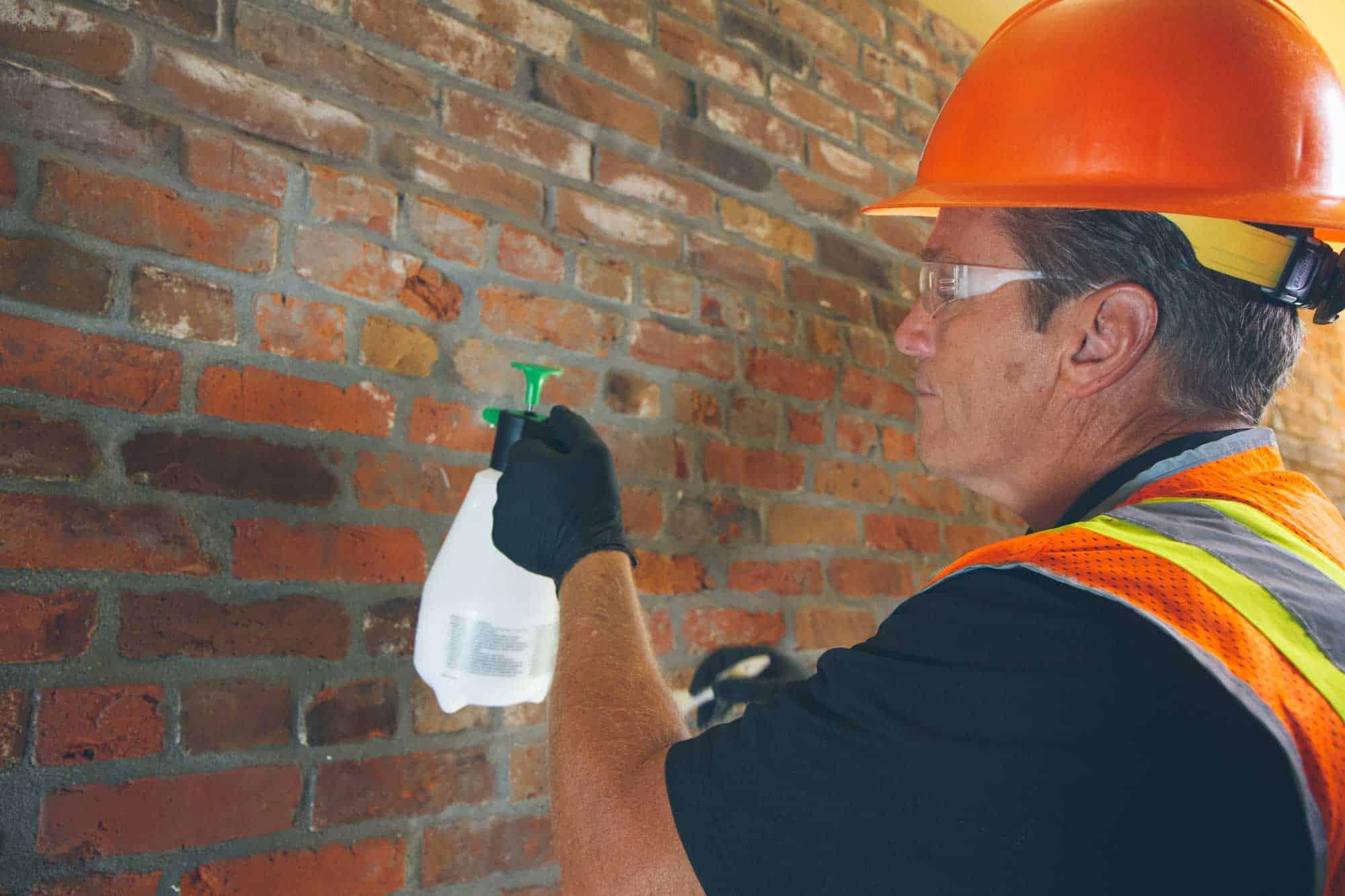 PROSOCO Interior Masonry Dustproofer application