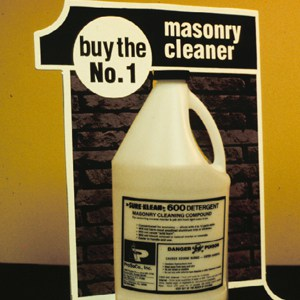 Vintage masonry cleaning advertisement