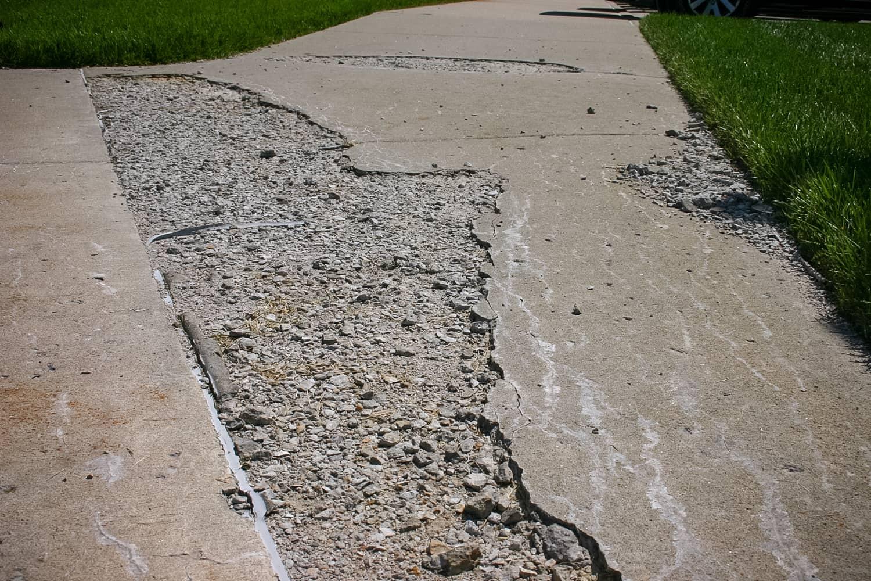 Sidewalk damage