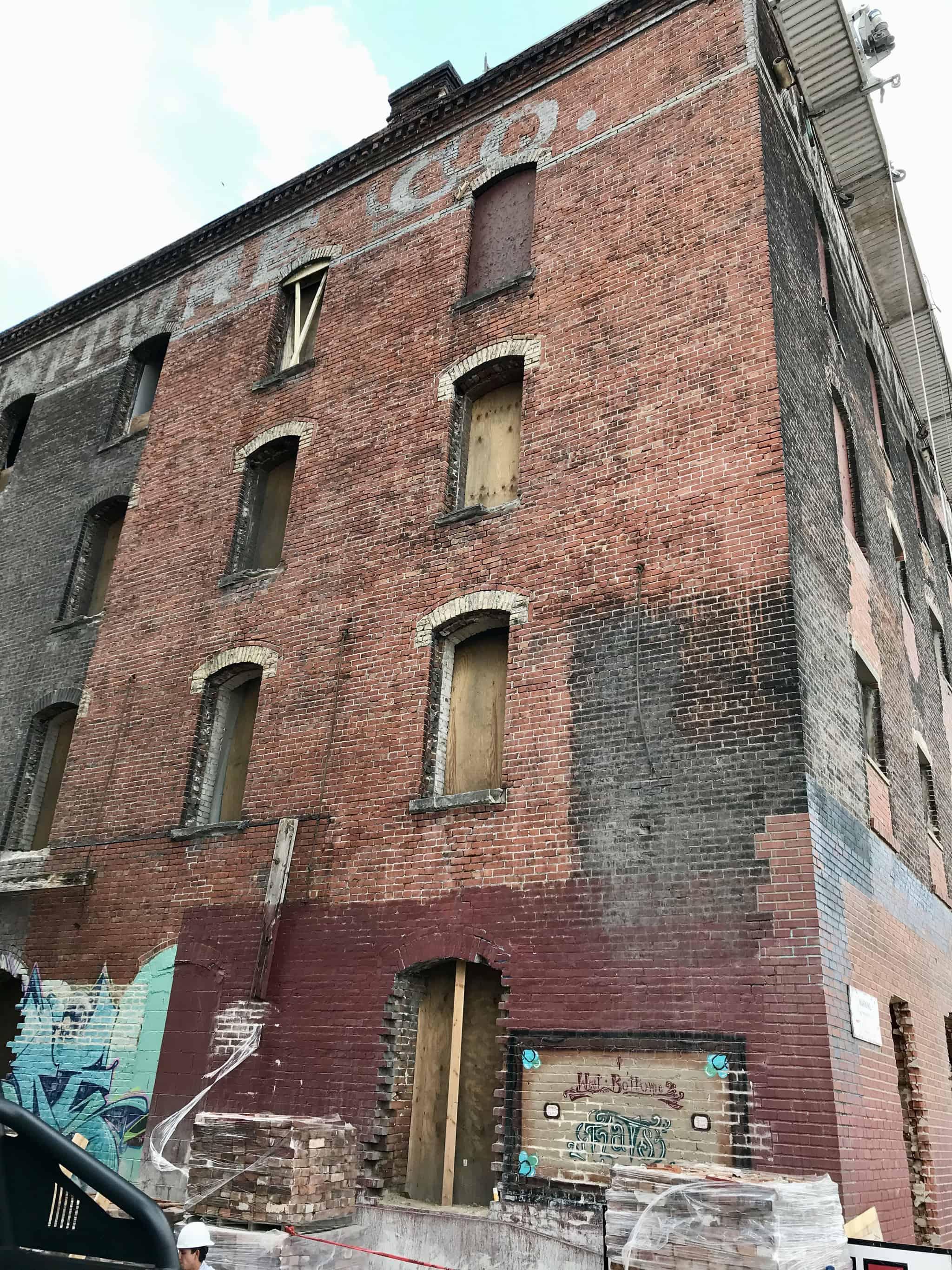 Abernathy Building restoration in Kansas City's industrial West Bottoms district.