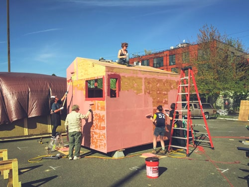 Sawhorse Revolution is a nonprofit program in Seattle that pairs professional builders and mentors with diverse and under-privileged high school students in the area.
