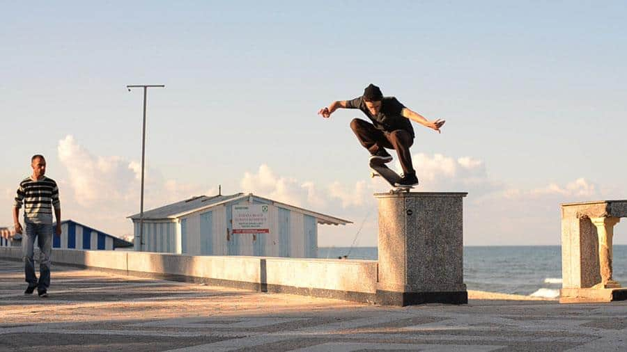 Sgrenci's work to build a skate ramp in Tunisia turned into a documentary called PUSH Tunisia.