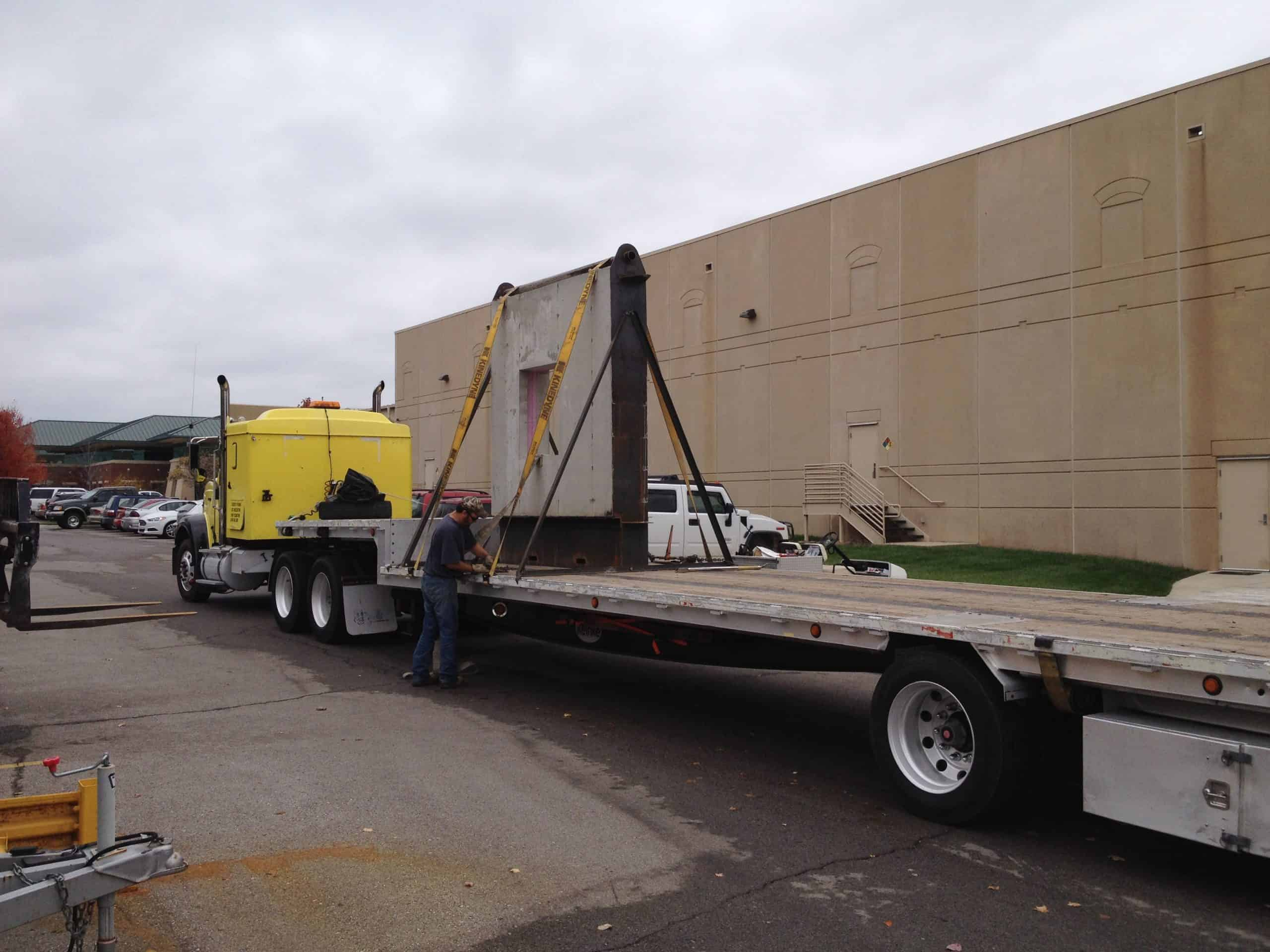 The mock-up wall and window assembly was delivered to PROSOCO headquarters in Lawrence, Kan., to be evaluated in a testing chamber.