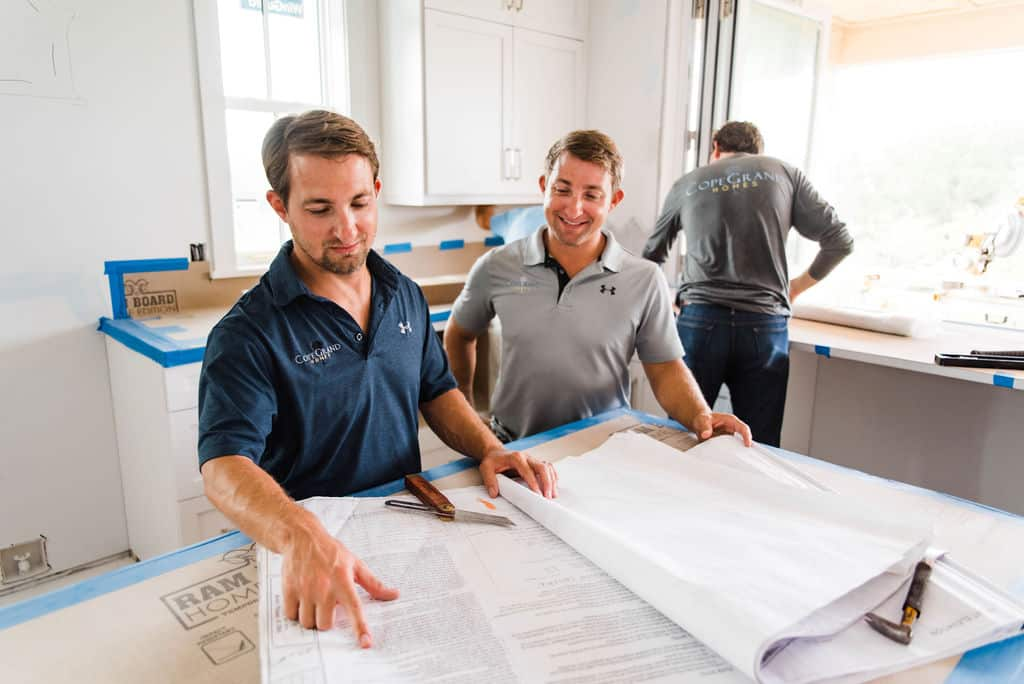 Adam Copenhaver (left) and Ben Copenhaver (right) are the founders of CopeGrand Homes in South Carolina.