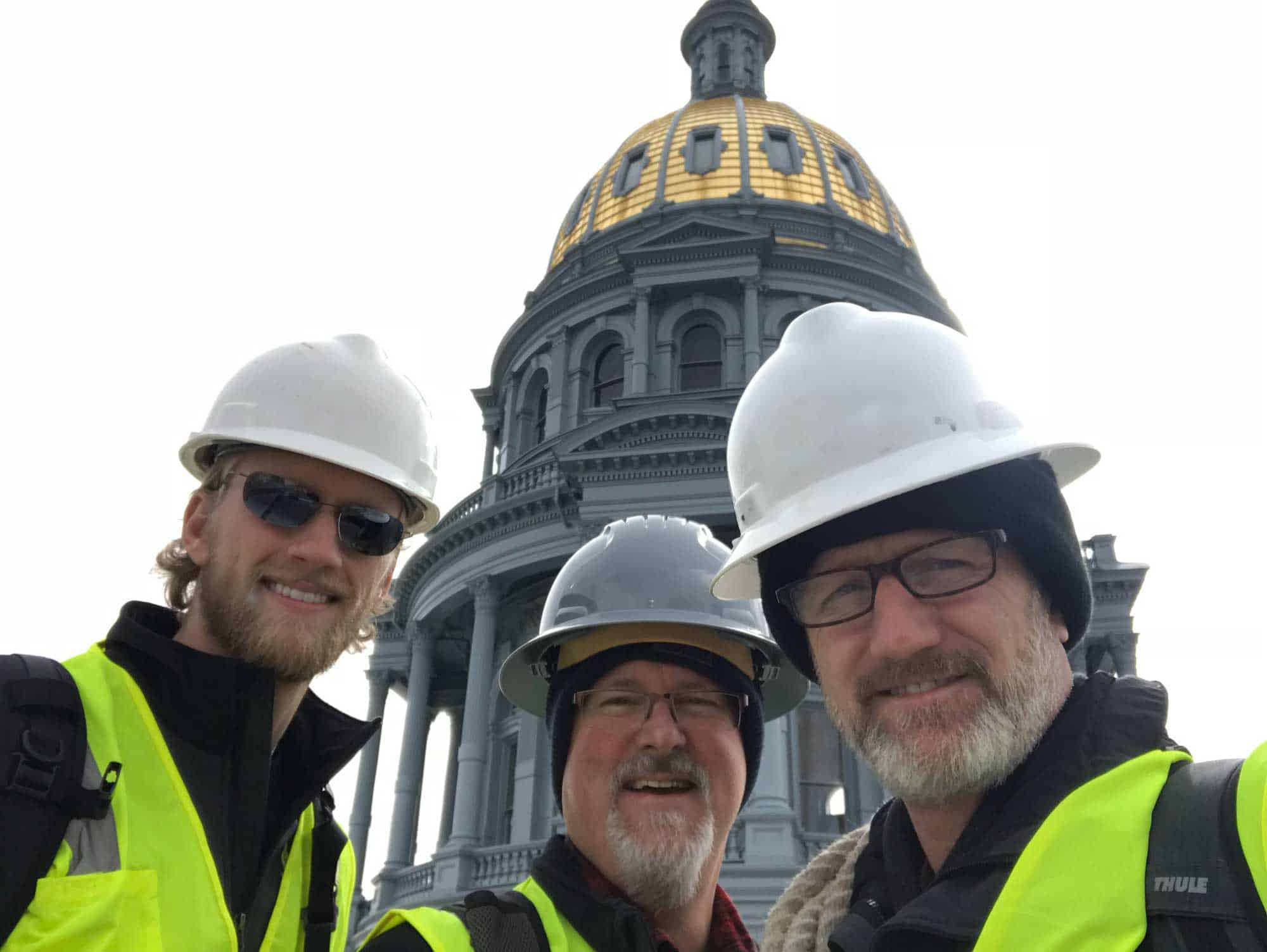 Jake and Mark worked on the Colorado State Capitol Building together, along with Michael Christopher, a colleague that Jake describes as a mentor.