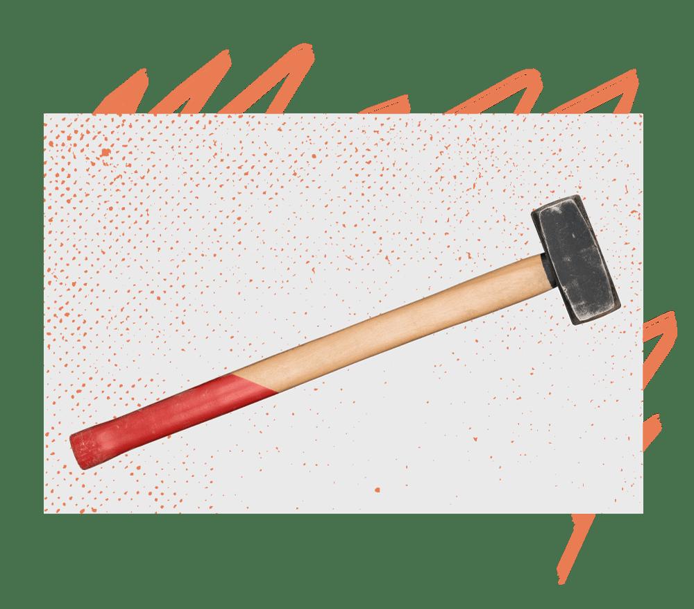 12-pound sledgehammer