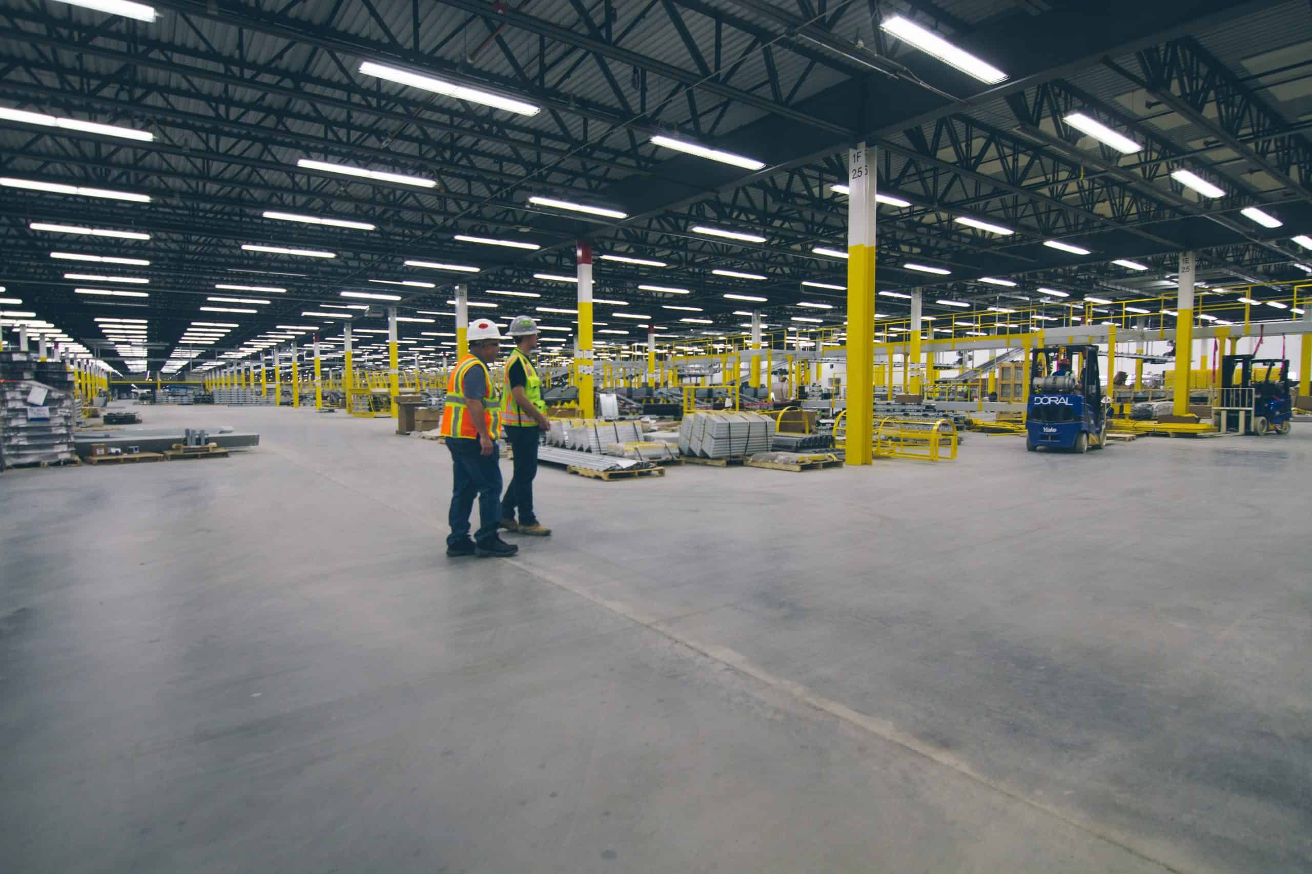 At another Amazon distribution center in North Randall, Ohio, Xtreme Elements densified and dustproofed with Consolideck LS/CS.