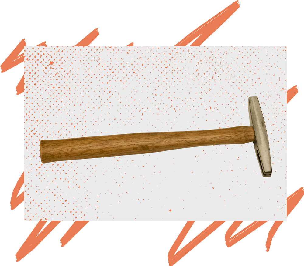 A finishing hammer
