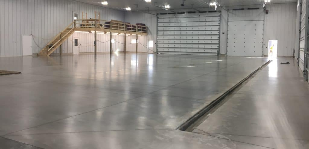 An agricultural facility floor Dancer's team polished and sealed.