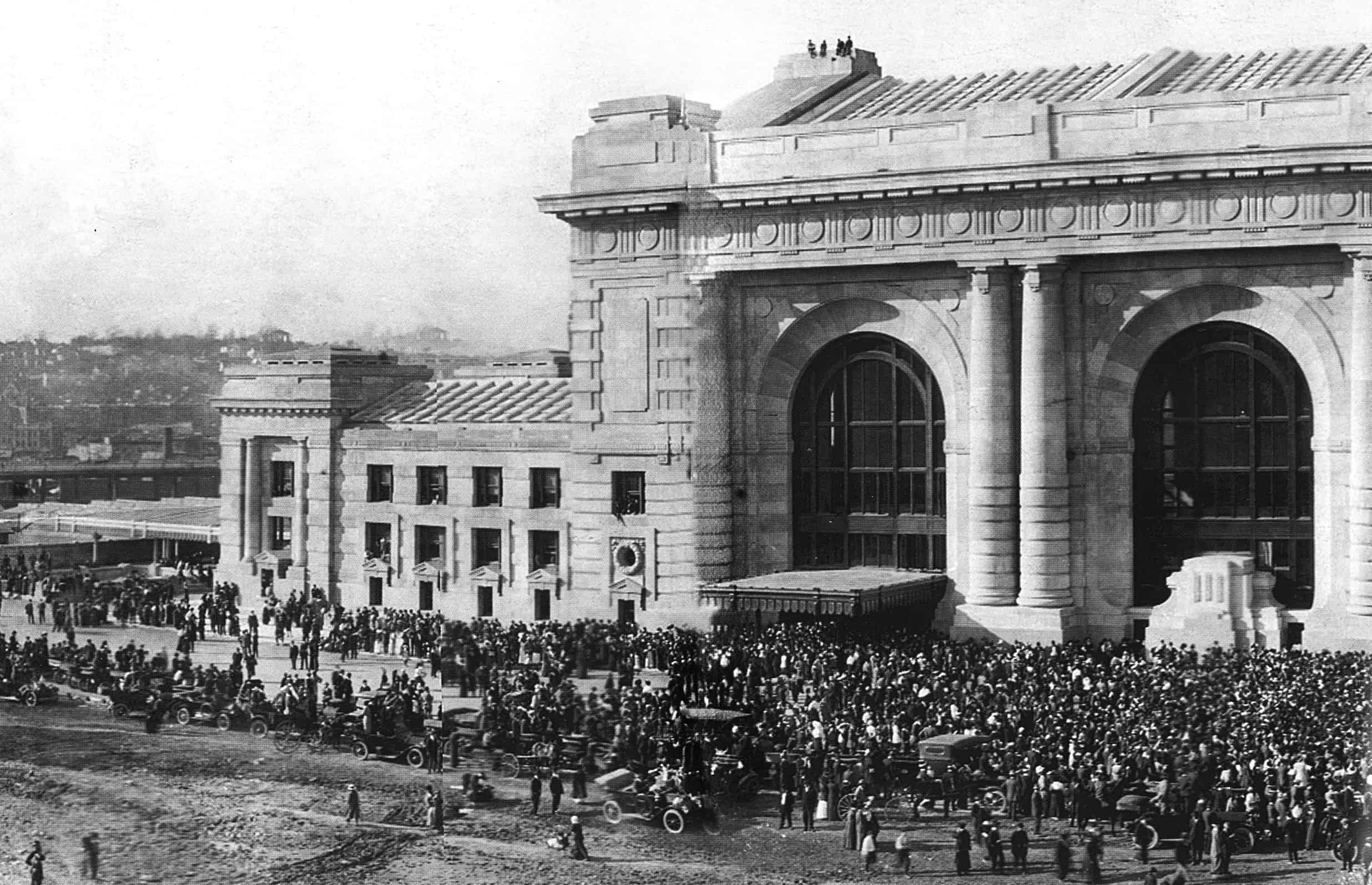 Kansas City's Union Station is pictured in 1914.